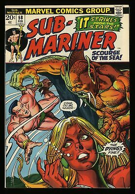 Sub-Mariner #58 VF 8.0 Marvel Comics
