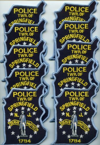SPRINGFIELD TWP NEW JERSEY Patch Lot Trade Stock 10 Police Patches POLICE PATCH