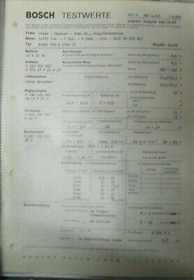 * Steyr Daimler Puch 700 C 700 E 1961-67   Einstelldaten Datenblatt Service