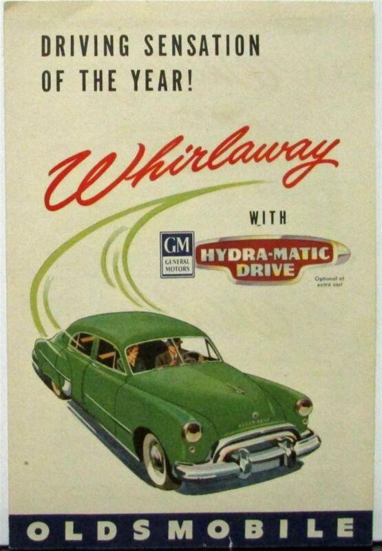 1949 Oldsmobile Hydra-Matic Original Color Sales Brochure Folder