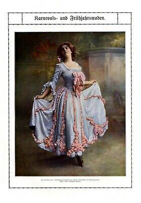 Karneval & Frühjahr Mode XXL Bericht 1909 17 Abb. Jahrhundertwende - Frühjahrs Kostüm