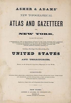 1870 NEW YORK STATE ATLAS map old GENEALOGY TREASURE HUNTING DVD S10