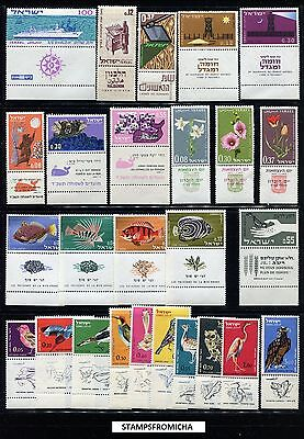 Israel 1963 Complete Year Set of Mint Never Hinged Stamps Full Tabs x6302017