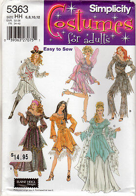 Simplicity Costume Patterns for Adults Sewing #5363