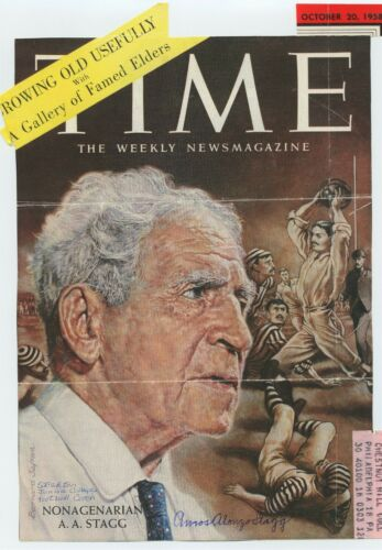 Sports Legend AMOS ALONZO STAGG Signed TIME Cover