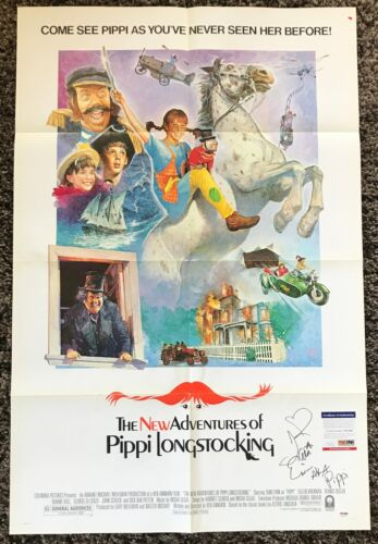 TAMI ERIN Signed THE NEW ADVENTURES OF PIPPI LONGSTOCKING Movie POSTER PSA/DNA
