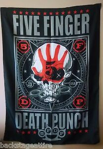 FIVE FINGER DEATH PUNCH FFDP 5FDP PUNCHAGRAM Cloth Fabric Poster Flag-New!