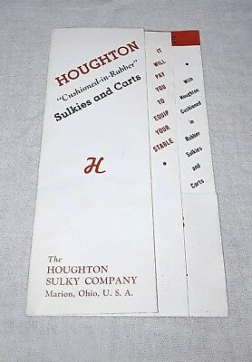 VINTAGE HOUGHTON SULKY COMPANY BROCHURE HORSE RACING SULKIES AND - Cart Racing Horses