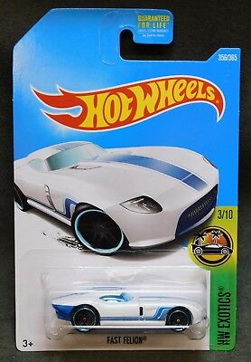 2017 Hot Wheels Car 356/365 Fast Felion - Q or International Case