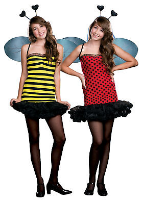 Buggin' Out Teen Girls Costume Fully Reversible Bumble Bee Fancy Dress Junior