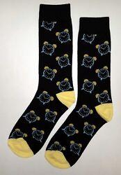 NWT Alarm Clock Dress Socks Novelty Men's 10-13 Sockfly Black, Fun