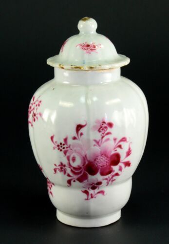 ~1735-1796 QIANLONG Qing Chinese Fine Porcelain Tea Caddy Mulberry Florals