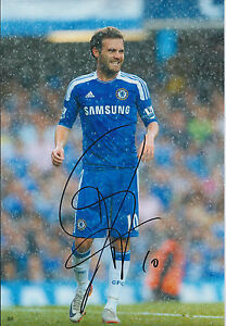 Juan-MATA-SIGNED-CHELSEA-FC-12x8-Photo-AFTAL-Genuine-AUTHENTIC-In-Person