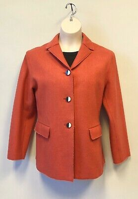 Vintage Jil Sander Deconstructed Jacket/Blazer Orange Ger. 38 / US 8 / Eu.44