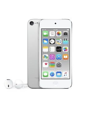 Apple iPod Touch 6th Generation 64 GB Silver White like new + accessories bundle