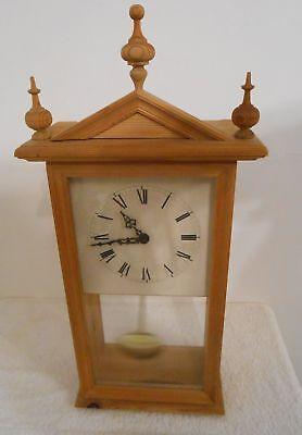 Wanduhr Hermle Pendeluhr Holz Design Standuhr NP:150€ Quartz rar Rarität Uhr