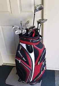 Powerbilt golf clubs and bag. Top set Boronia Heights Logan Area Preview