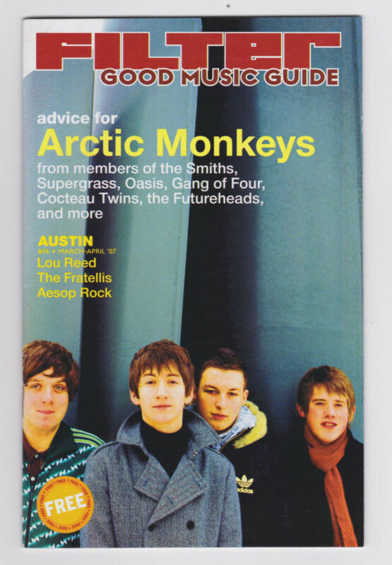 The Arctic Monkeys - 2007 Filter Magazine cover story - Lou Reed