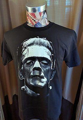 Halloween Movie T Shirts (NEW HORROR MOVIE HALLOWEEN MONSTER WHITE FRANKENSTEIN BOLTS PIC BLACK T)
