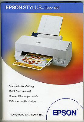 Handbuch und CD für Drucker Epson Stylus Color 660 - Epson Drucker Handbuch