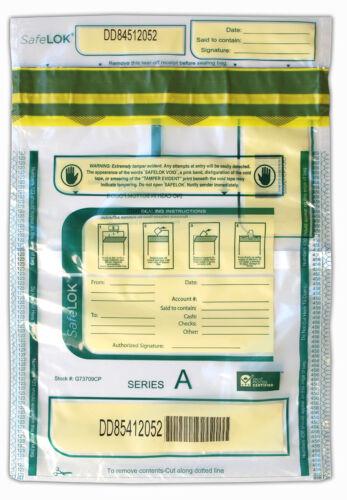 9x12 SafeLok, clear w/ pocket, 100 Deposit Bags