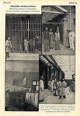 Aburteilung gefangener Boxerführer v. chinesischen Gerichtshof in Schanghai 1900