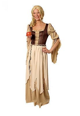 2t Damen Mädchen Kostüm FREIFRAU Magd Kleid Larp Mittelalter Burgfräulein Gewand ()