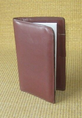 Pocket Size Brown Calf Leather Day-timer Planner Cover Wire Bound Usa