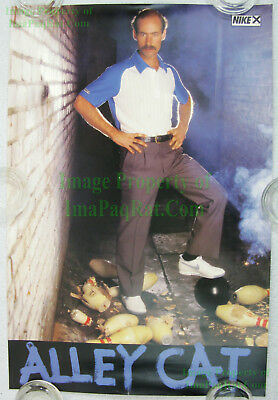 NITF ☆ Vintage ☆ Original ☆ NIKE Bowling Poster ☆ ALLEY CAT ☆ Marshall Holman