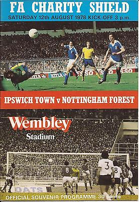 Football Programme - Ipswich Town v Nottingham Forest - Charity Shield - 1978