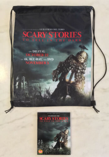 SCARY STORIES TO TELL IN THE DARK Blu-ray/DVD/Digital PLUS Slick Tote Bag; NEW