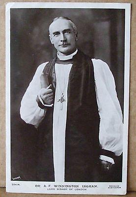 Old Real Photo Postcard - Dr.A.F.Winnington Ingram Lord Bishop Of London 1901-39