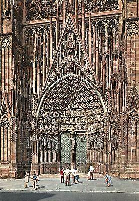 Alte Postkarte - Strasbourg - La Cathedrale - Portail Central