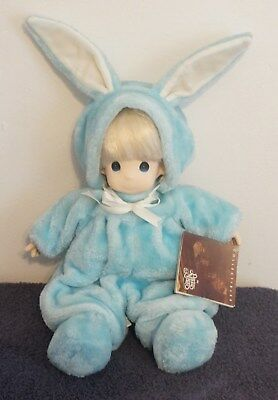 Precious Moments Blue Easter Bunny Josh Doll