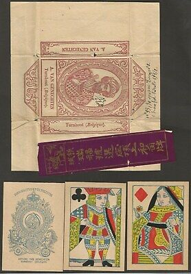 3 CARTES A JOUER ANCIENNES-BELGIQUE- GREAT MOGUL - VAN GENECHTEN - CA 1920