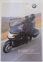 Bmw K1200 Gt Opuscolo Depliant Brochure Reclame Prospekt 2 -  - ebay.it