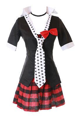 MN-41-2 Danganronpa Junko Enoshima 6-teilig Set schwarz Gothic Faschings Kostüm