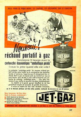 Publicité papier RECHAUD JET-GAZ CAMPING juin 1961 P1024225