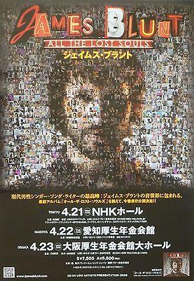 JAMES BLUNT 2008 JAPANESE CONCERT TOUR POSTER