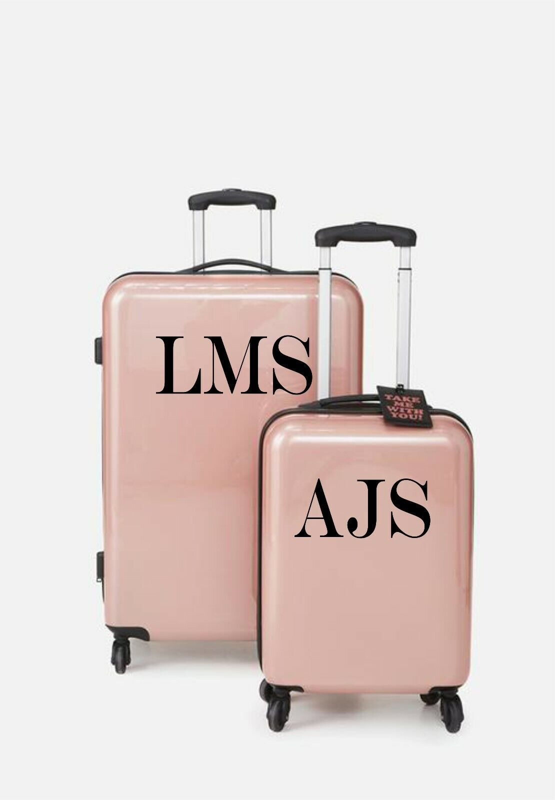 Home Decoration - Personalised Suitcase Luggage Vinyl Sticker Initial Decals PG111