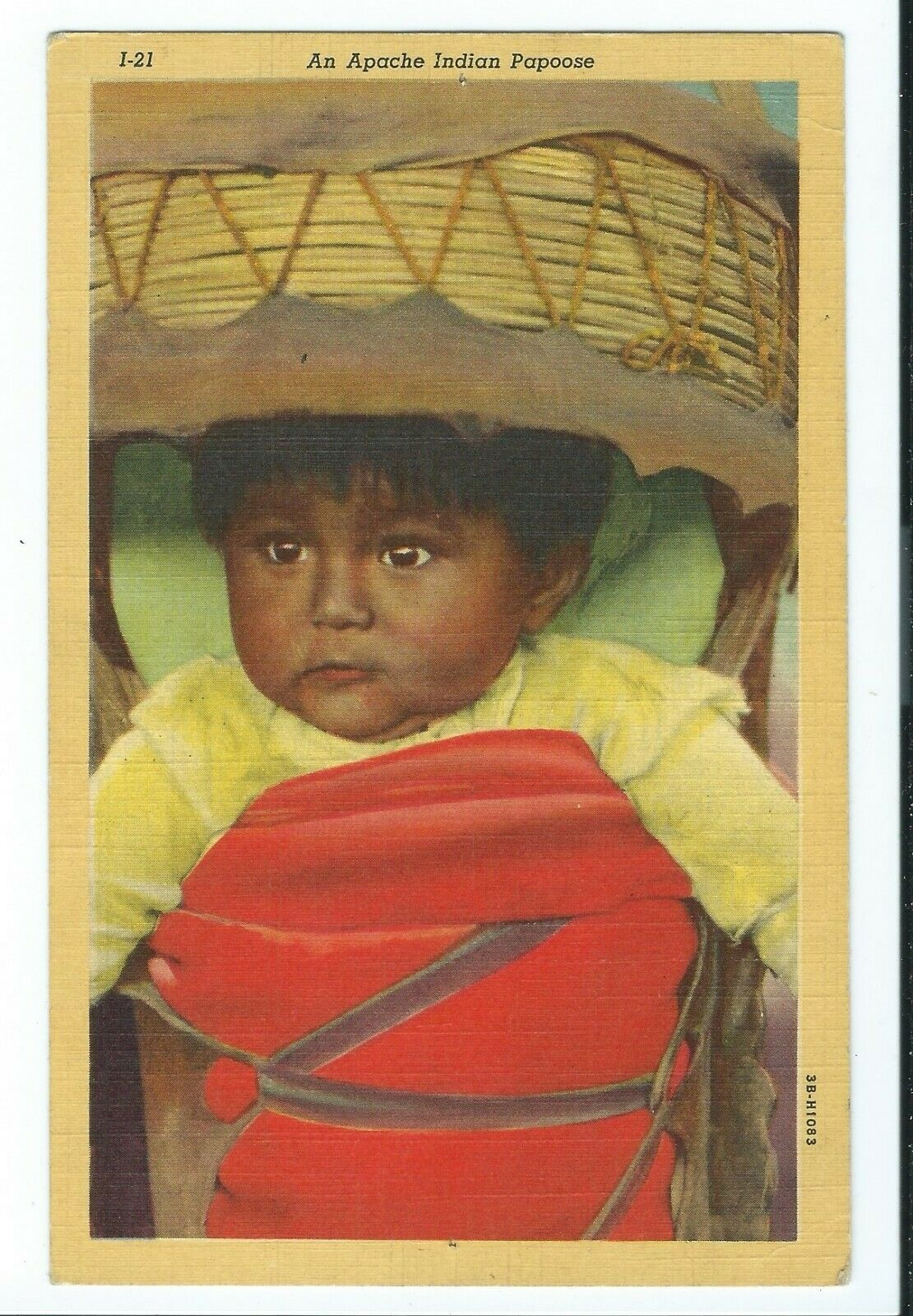 """Vintage Postcard """"AN APACHE INDIAN PAPOOSE"""" VPC1."""