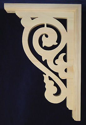 L&G's Ornate Victorian Gingerbread Fretwork Porch Corner Trim Bracket 14""