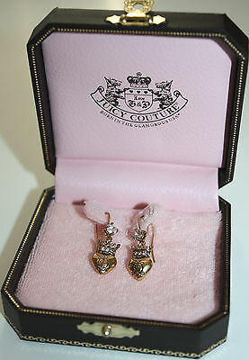 Juicy Couture Heart Drop Gold Plated Earrings