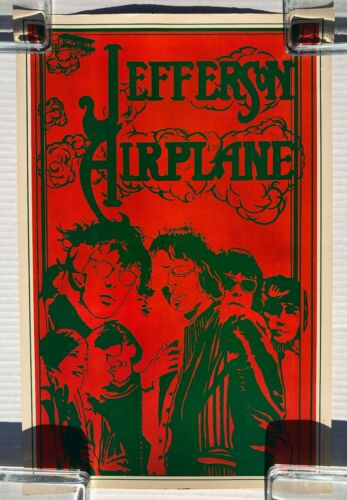 JEFFERSON AIRPLANE Head Shop POSTER Galadin Productions 1967 PSYCH VG++