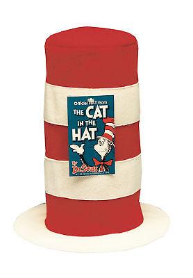 Halloween Zubehör Katze (Dr.Seuss Katze Im Hut Erwachsene Hut Zubehör Kopf Prop Streifen Party Halloween)