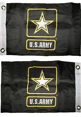 "12x18 U.S. Army Star 2ply Double Sided Boat Flag 12""x18"" Grommets"