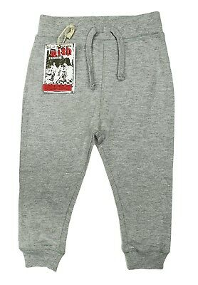 - NEW LITTLE KIDS INFANT MISH BOYS TERRY GREY SWEAT PANTS 12M