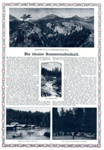 Spa & Hotel Waldhaus Flims Canton Grisons XL 1909 ad Switzerland advertising