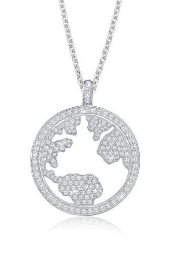 d372901289e5f1 Elli PREMIUM Halskette Welt Zirkonia Swarovski® Kristalle 925 Silber