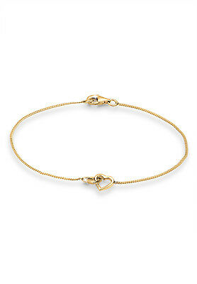 Armband Herz 925er Silber vergoldet Herz filigran Muttertag Verbundenheit Elli